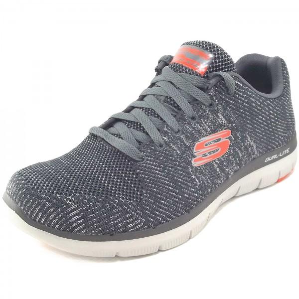 Skechers Flex Advantage 2.0 Missing Link Herren Trainingssneaker grau (charcoal/orange)