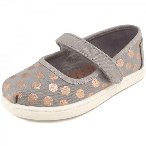 f986b5a3f18 Toms Mary Jane Canvas Tn Girl Mary Janes drizzle grey/rose gold ...