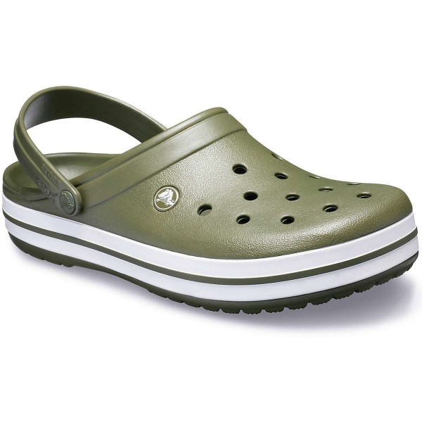 Crocs Crocband Unisex Clogs Army Green/White