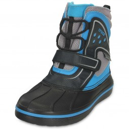 Crocs AllCast Waterproof Jungen Winterstiefel schwarz/blau (black/ocean)