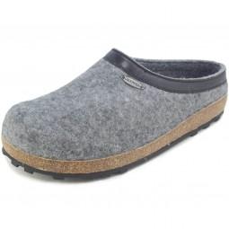 Giesswein Chiemsee Unisex Pantoffeln grau (schiefer)
