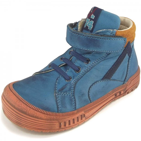 Naturino 3984 Kinder High Top Sneakers petrolblau (avio/ocra/navy)