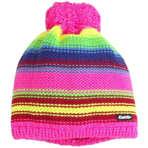 Eisbär Caja Pompon Kids Mädchen Winter-Strickmütze Pink/Mehrfarbig