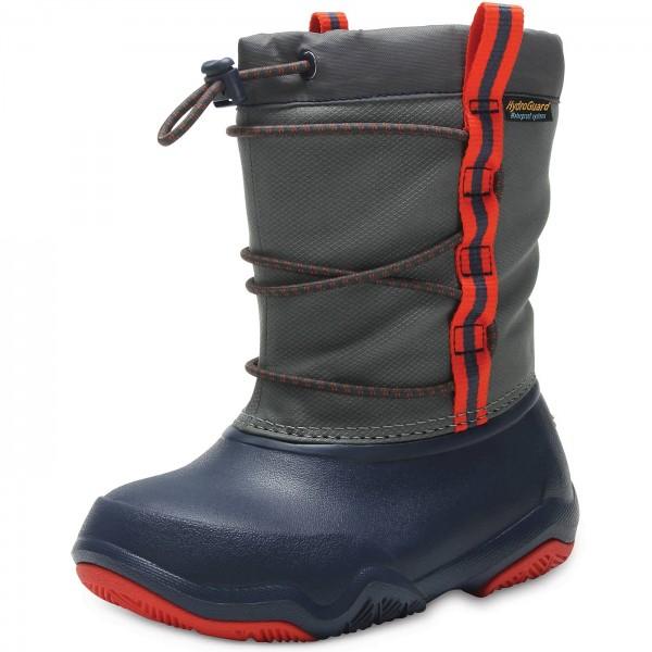 Crocs Swiftwater Boot Kids Kinder Waterproof-Stiefel dunkelblau/grau (navy/flame)