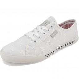 Pepe Jeans Aberlady Anglaise Damen Sneaker weiß (white)