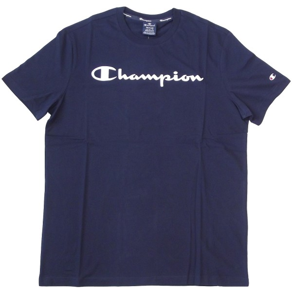 Champion Crewneck T-Shirt Mn Herren Baumwolle-Shirt navy (nny)