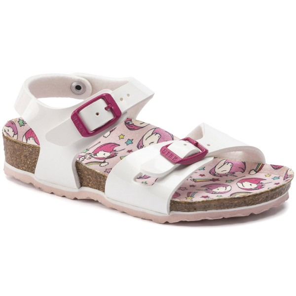 Birkenstock Rio Kids Mädchen Sandale Patent White/Unicorn