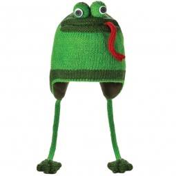 Knitwits by deLux Fergie the Frog Unisex Strickmütze grün (green)