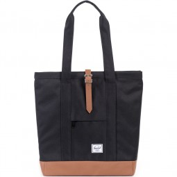 Herschel Market Damen Shopping Bag schwarz (black/tan)