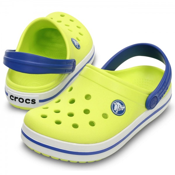crocs crocband clog kids unisex kinder clogs blau navy red 30 31 eu. Black Bedroom Furniture Sets. Home Design Ideas