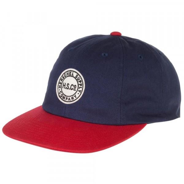 Herschel Glenwood Herren Baseball-Kappe blau/rot (navy/red)