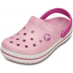 Crocs Crocband Kids Mädchen Clogs pink (ballerina pink/wild orchid)