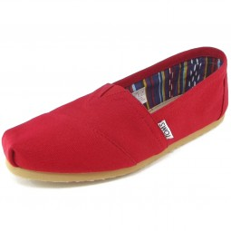 Toms Classic Canvas Wm Damen Espadrilles rot (red)