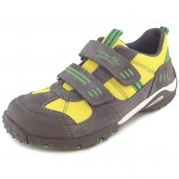 Superfit Sport4 Kinder Sneaker grau/gelb (stone/multi)