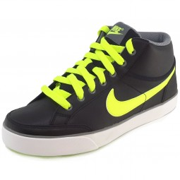 Nike Capri 3 Mid Leather GS black/volt cool/grey