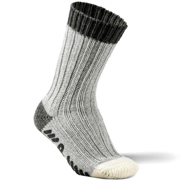 Fellhof Alpaka ABS Unisex Antirutsch-Socken Grau