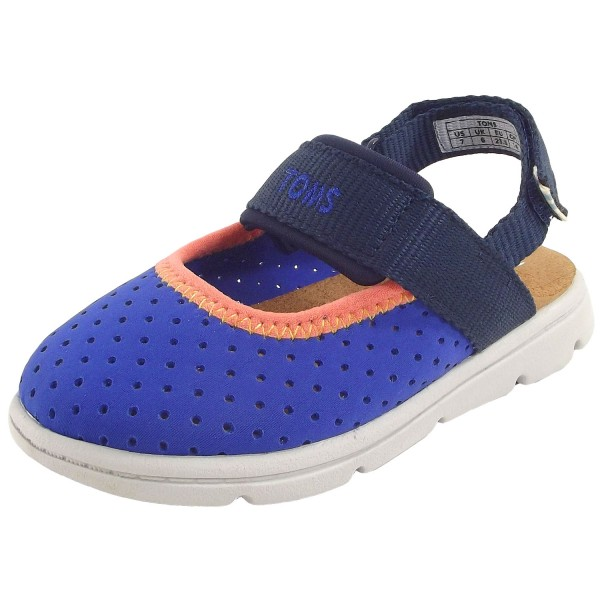 Toms Caity Tiny Kleinkinder Aqua Sandalen blau (navy nylon perf)