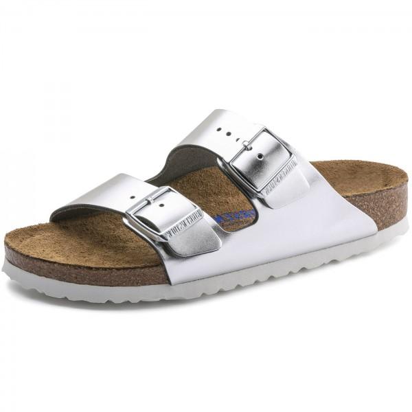 competitive price ef750 61695 Birkenstock Arizona Soft Footbed Women Sandal silver