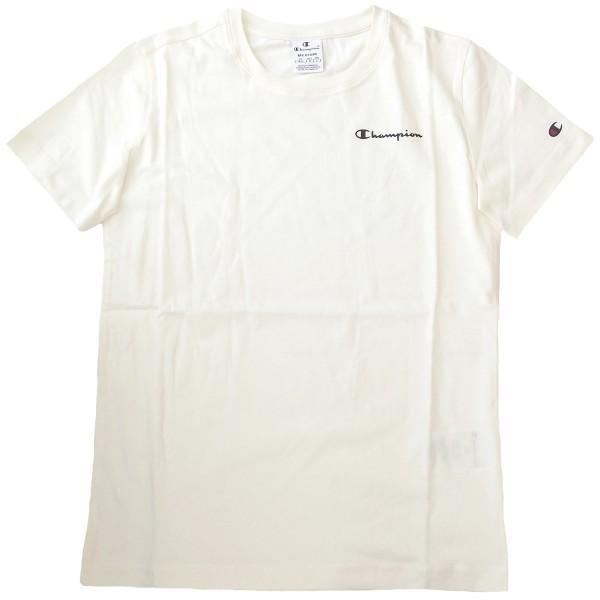 Champion Crewneck T-Shirt Damen Baumwolle-Shirt creme (offwhite)