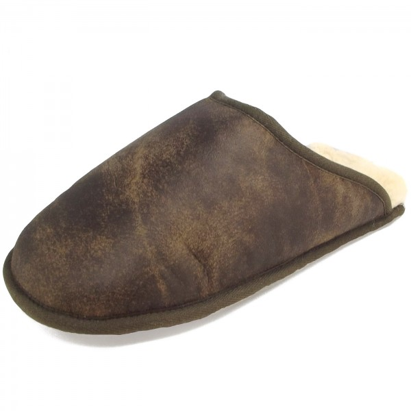 Fellhof Trend-X Unisex Lammfell-Pantoffel braun (antik)