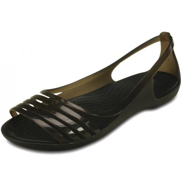 Crocs Isabella Huarache Flat Damen Riemensandalen schwarz (black)