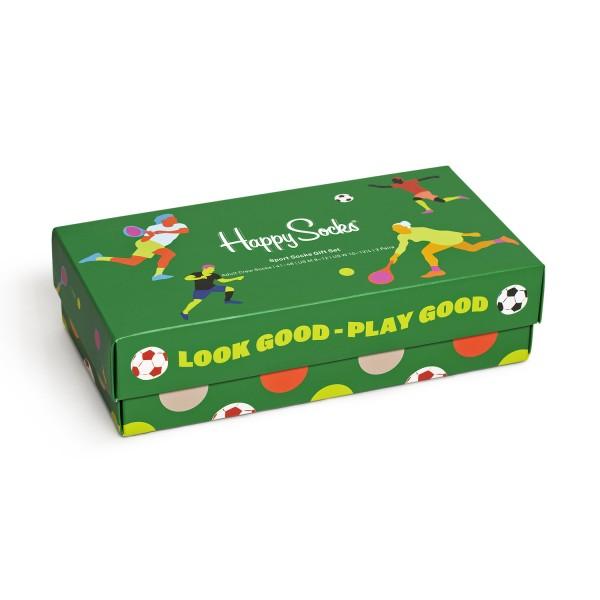 Happy Socks Sports Socks Gift Set 3-Pack Unisex Geschenks-Socken Mehrfarbig