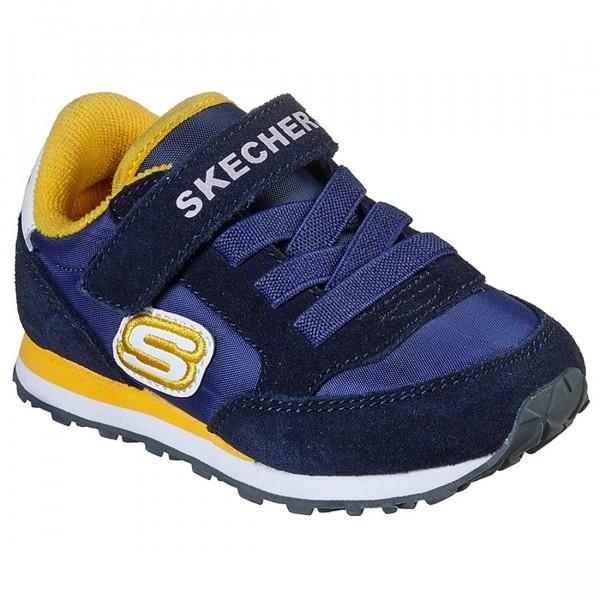Skechers Retro Sneaks Gorvox Kleinkinder Sneaker navy/gold