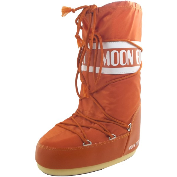 detailed look 25847 e6736 Moon amp Boot Nylon Unisex Orange Boots Winter Moonboots rgr