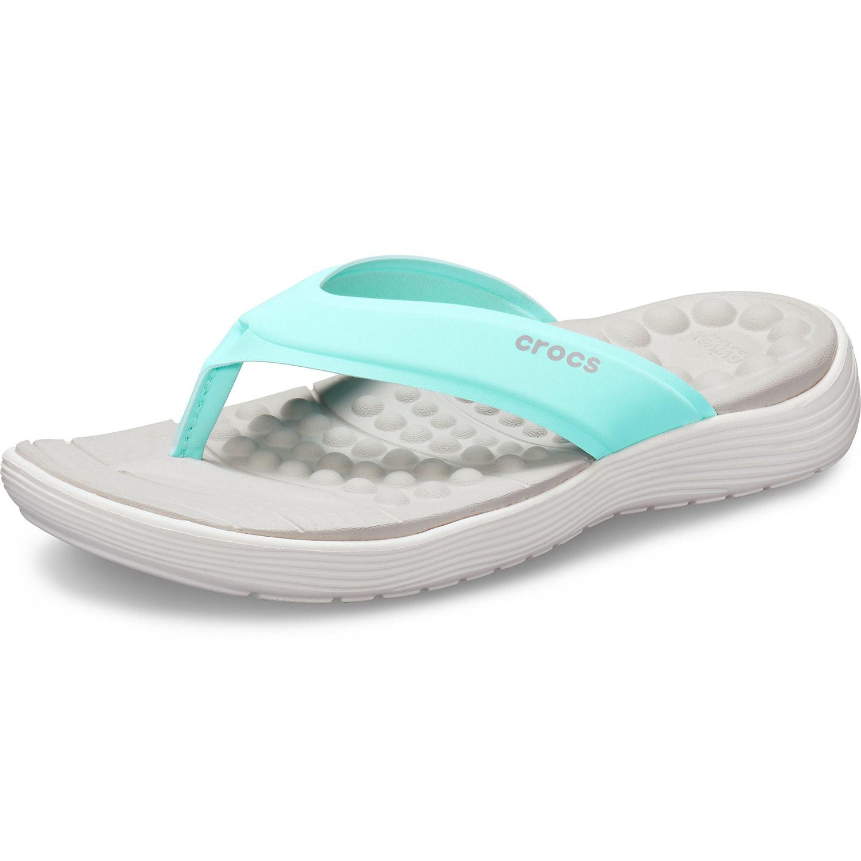 outlet store d8dee 9e762 Crocs Reviva Flip W Women Soft Flip Sandal ice blue/white