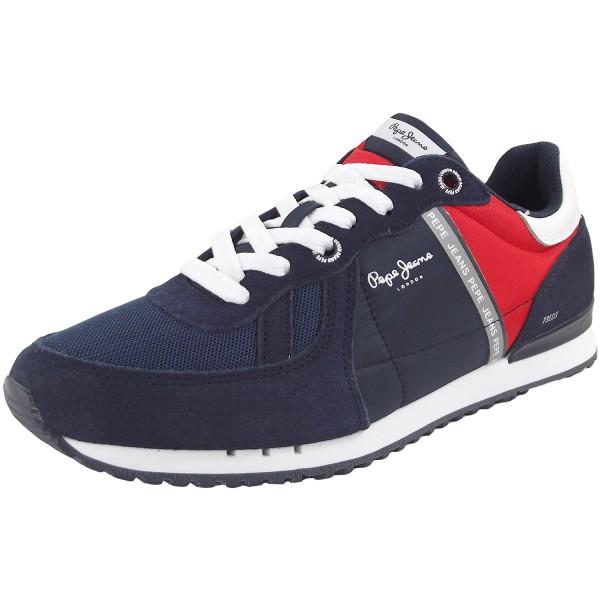 Pepe Jeans Tinker Zero Ath Herren Sneaker blau/rot (navy)