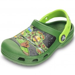 Crocs Teenage Mutant Ninja Turtles Jungen Clogs seaweed/volt green