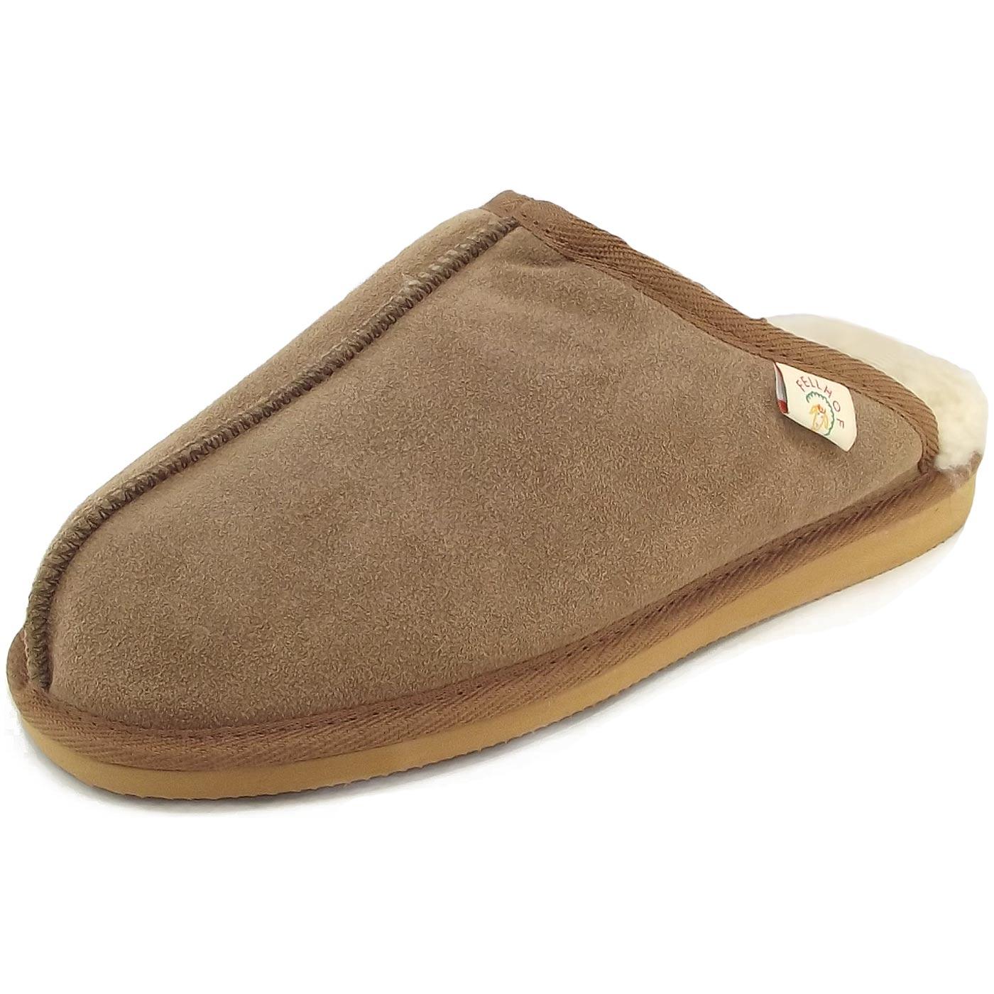 fellhof unico unisex lammfell pantoffel chestnut pantoffeln damen hausschuhe haus schuhe. Black Bedroom Furniture Sets. Home Design Ideas