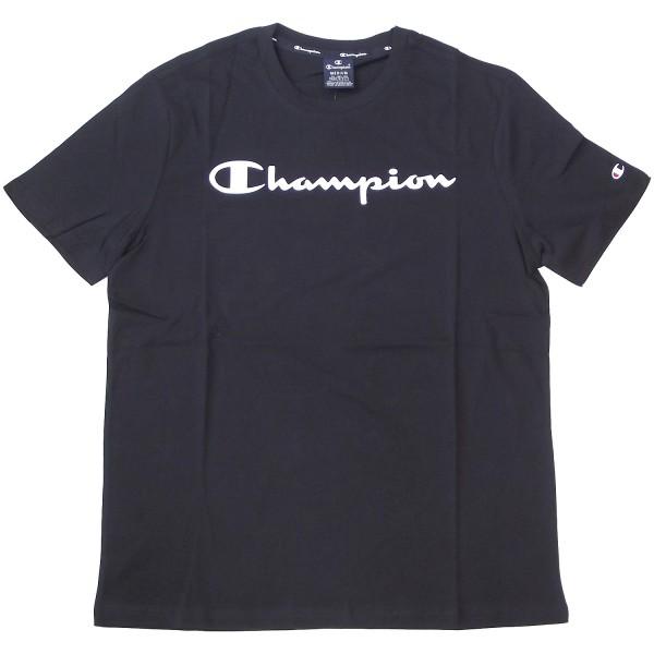 Champion Crewneck T-Shirt Mn Herren Baumwolle-Shirt schwarz (nbk)
