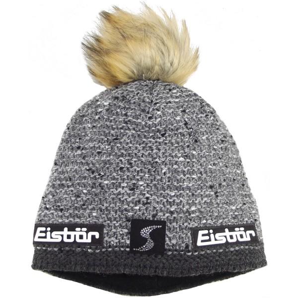 Eisbär Philine Lux Crystal SP Damen Winter-Strickmütze grau/meliert