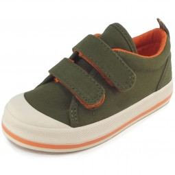 Keds Graham Kinder Sneaker oliv/orange (green/orange)