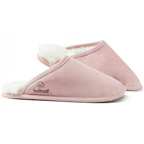 Fellhof Trendy Damen Lammfell-Pantoffel Rosa