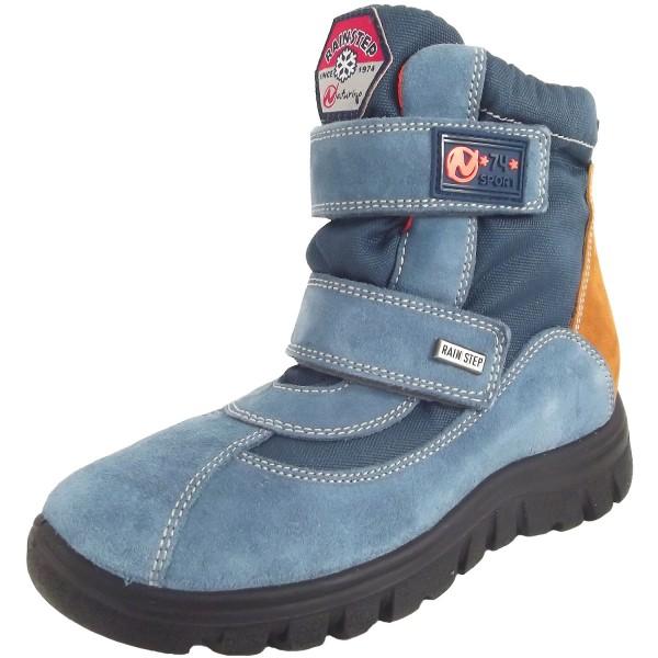 Naturino Rain-Step Thorens Kinder Winterstiefelette blau (azurro/zucca)