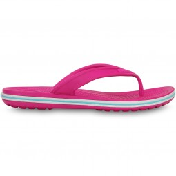 Crocs Crocband LoPro Flip Damen Zehenstegsandale candy pink/electric blue