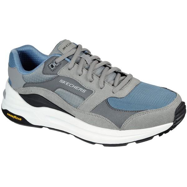 Skechers Global Jogger Herren Dad-Sneaker Grau (Gray/Blue)