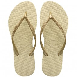 Havaianas Slim Damen Zehenstegsandale sand grey/light golden