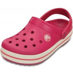 Crocs Crocband Kids Mädchen Clogs himbeerrot (raspberry/white)