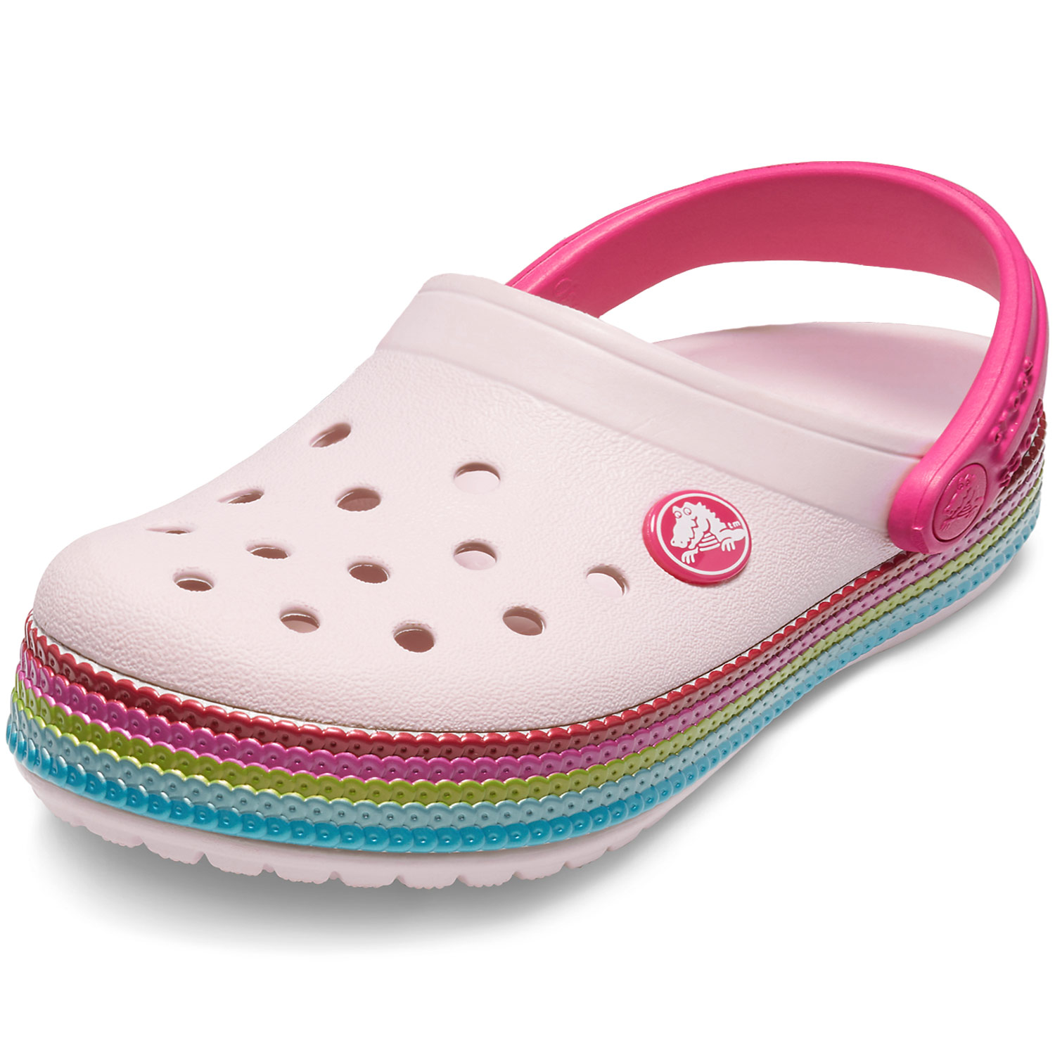 new product eb9fa 83c1d Crocs Crocband Sequin Band Kids Girl Clogs barely pink