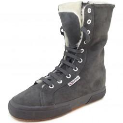 Superga 2040 Suebw Damen Sneaker-Stiefel grau (grey stone)
