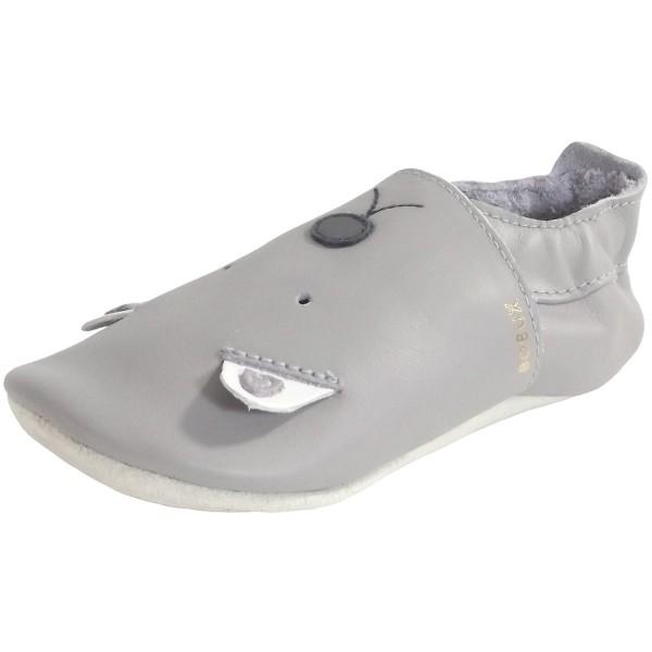 Bobux Soft Soles Woof Gull Baby Krabbelschuhe grau (grey)