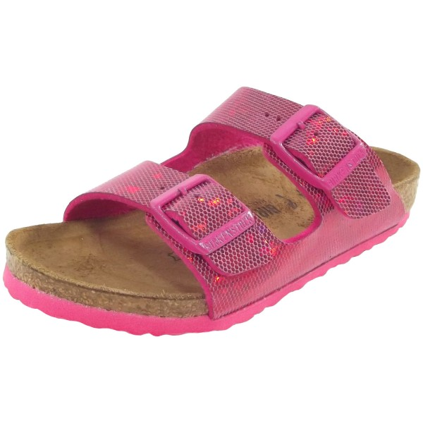 newest ec9ba ca1ca Birkenstock Arizona Kids Hologram Girl Sandal pink
