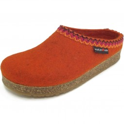 Haflinger Grizzly Francisco Unisex Pantoffeln orange (rost)