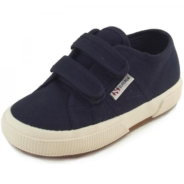 Superga 2750 Junior Velcro Classic Kleinkinder Sneaker dunkelblau (navy)