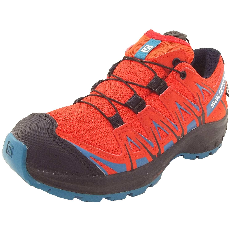 Salomon XA Pro 3D CSWP J Child Running Shoes cherry tomatonavy blazerfjord blue