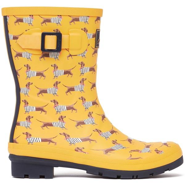 Tom Joule Molly Welly Damen Mittelhohe Gummistiefel Gelb (Yellow Sausage Dog)