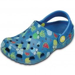 Crocs Classic Summer Fun Kinder Clogs blau (ultramarine)